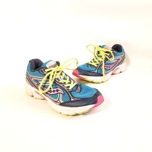 Saucony Cohesion 7  Size 5M  Wide Navy Blue Ye